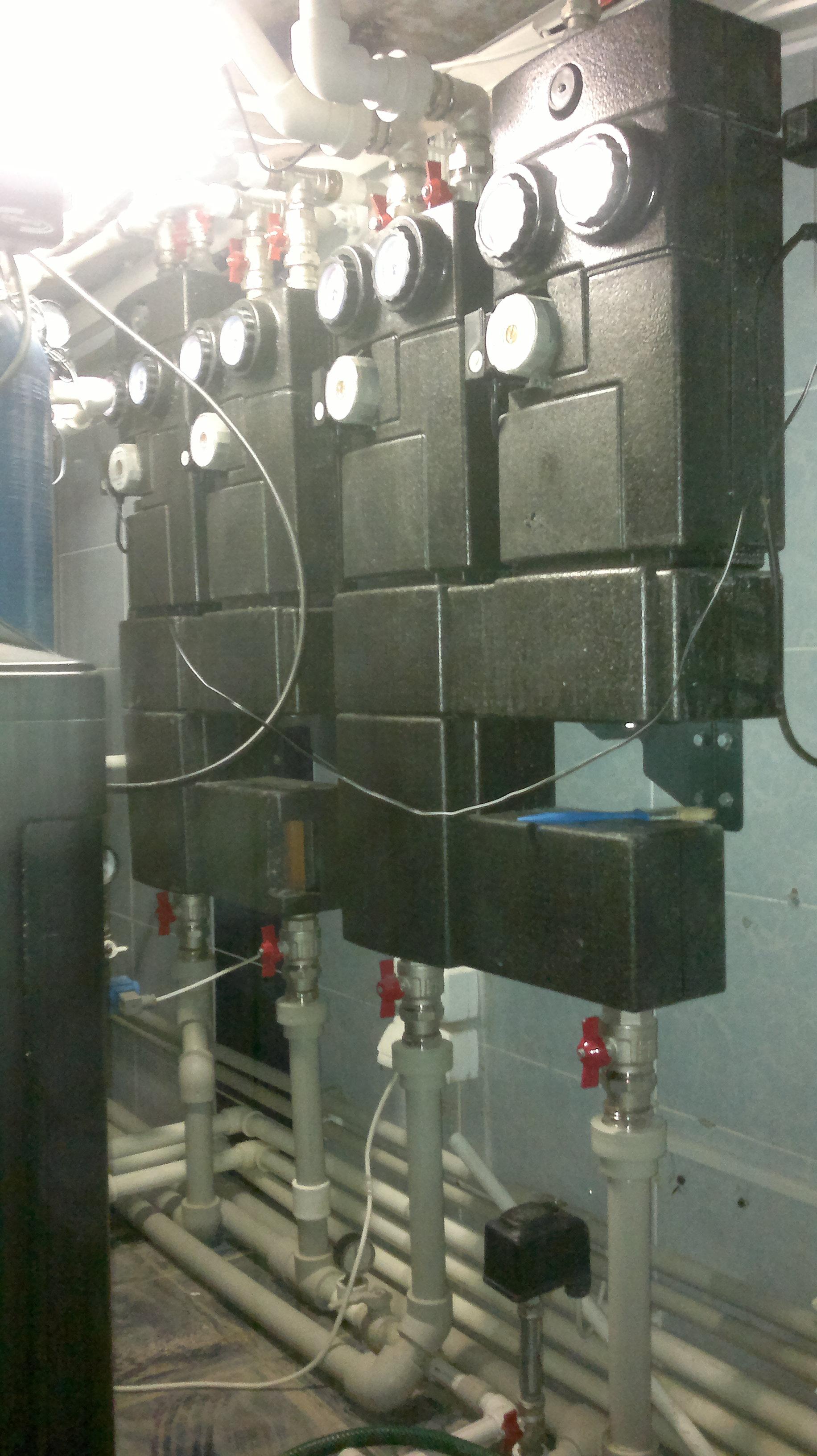 схема отопления бани на базе электрического котла
